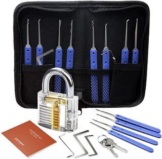 blue handle lock set